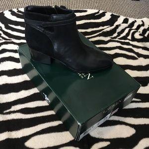Black Suede x Leather Ralph Lauren Booties